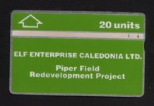 Phonecard BT Telephone card Elf Oil Fields #301